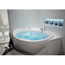 Акриловая ванна  AQUATEK Эпсилон 150х150( Ванна, каркас,  панель и слив-перелив )