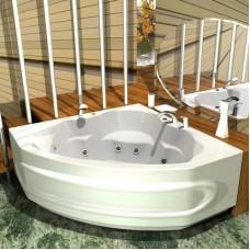 Акриловая ванна  AQUATEK Сириус 164х164 (Ванна, каркас,  панель и слив-перелив)