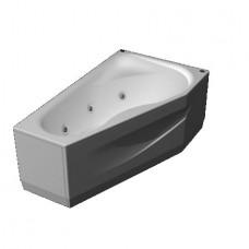 Акриловая ванна  AQUATEK Медея 170х95 (Ванна, каркас,  панель и слив-перелив)