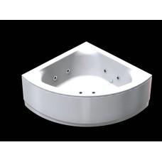 Акриловая ванна  AQUATEK Юпитер 150х150х68 (Ванна, каркас,  панель и слив-перелив)