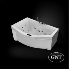 Акриловая гидромассажная ванна GNT ETERNITY  170 x 105 Elementaty Jet/Air