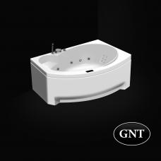 Акриловая гидромассажная ванна GNT   FRESH 170x105  Elementaty Jet/Air