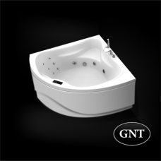 Акриловая гидромассажная ванна GNT  Harmony 150 x 150 Elementaty Jet/Air