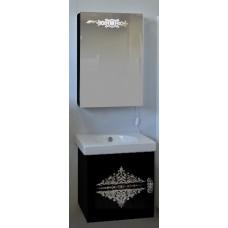 Зеркало-шкаф Ingenium Accord 50 черный глянец