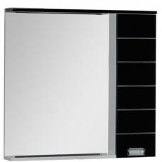Зеркало Aquanet Доминика 90 LED L бело/черное