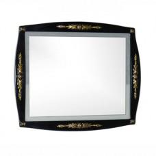 Зеркало Aquanet Виктория 90 черное глянец/золото