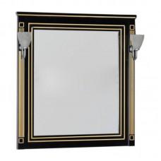 Зеркало Aquanet Паола 90 черное/патина золото