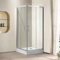 Душевой уголок Cezares Porta D-A-2-100-C-Cr прозрачное стекло, профиль хром