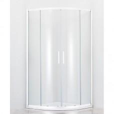 Душевой уголок Cezares Relax R2 80 C Bi прозрачное стекло, профиль белый