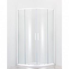 Душевой уголок Cezares Relax R2 80 P Bi матовое стекло, профиль белый