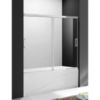 Шторка для ванны Cezares Tandem Soft VF2 170/145 P Cr матовое стекло, профиль хром