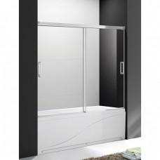 Шторка для ванны Cezares Tandem Soft VF2 200/145 C Cr прозрачное стекло, профиль хром IV