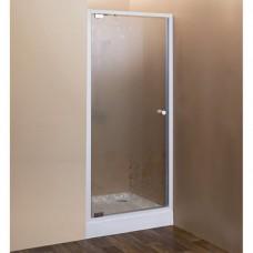 Душевая дверь Cezares Rosa BA-1-90-RO-Bi матовое с прозрачным рисунком, профиль белый