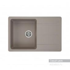 Мойка для кухни Aquaton Аманда прямоугольная с крылом серый шелк 1A712832AD250