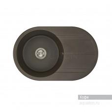 Мойка для кухни Aquaton Амира круглая с крылом кофе 1A712932AI280
