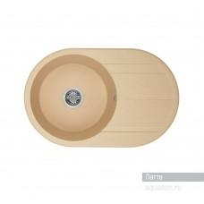 Мойка для кухни Aquaton Амира круглая с крылом латте 1A712932AI260