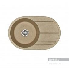 Мойка для кухни Aquaton Амира круглая с крылом песочная 1A712932AI220