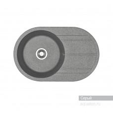 Мойка для кухни Aquaton Амира круглая с крылом серая 1A712932AI230