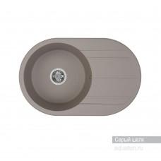 Мойка для кухни Aquaton Амира круглая с крылом серый шелк 1A712932AI250