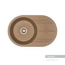 Мойка для кухни Aquaton Амира круглая с крылом терракотовая 1A712932AI270