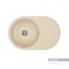 Мойка для кухни Aquaton Амира круглая с крылом шампань 1A712932AI290