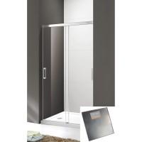 Душевая дверь Cezares Tandem-Soft BF-2-120-P-Cr текстурное стекло, профиль хром