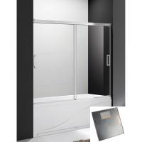 Шторка для ванны Cezares Tandem Soft VF 2 150/145 P Cr текстурное стекло, профиль хром