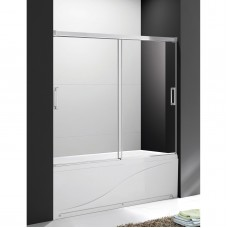 Шторка для ванны Cezares Tandem Soft VF 2 150/145 C Cr IV прозрачное стекло, профиль хром