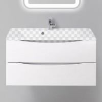 Комплект Тумба с раковиной BelBagno Marino 900-2C-SO-BO-P Bianco Opaco