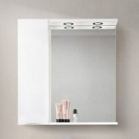 Зеркало BelBagno Marino SPC-800/750-1A-BL-P-L Bianco Lucido