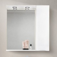 Зеркало BelBagno Marino SPC-800/750-1A-BL-P-R Bianco Lucido