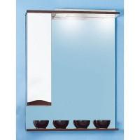 Зеркало Бриклаер Токио 70 левое бело/венге