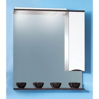 Зеркало Бриклаер Токио 80 правое бело/венге