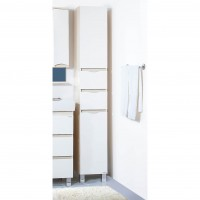 Пенал Бриклаер Токио 32 R белый/светлая лиственница