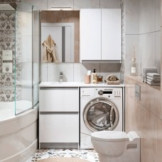 Мебель для ванной Alavann Soft Silver 120 белый
