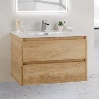 Тумба с раковиной BelBagno Kraft 39-700/390-2C-SO-RNN Rovere Nebrasca Nature