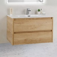Тумба с раковиной BelBagno Kraft 39-800/390-2C-SO-RNN Rovere Nebrasca Nature