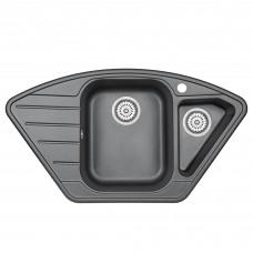 Кухонная мойка Granula GR-9101 890х490 шварц