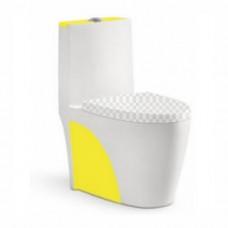Унитаз моноблок Melana 800-0828A желтый