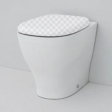 Приставной унитаз ArtCeram Ten TE20 без сидения без сидения