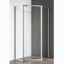 Душевой уголок Cezares ECO P 1 90 C Cr прозрачное стекло, профиль хром