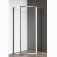 Душевой уголок Cezares ECO P 1 100 C Cr прозрачное стекло, профиль хром