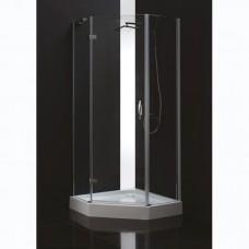 Душевой уголок Cezares BERGAMO P 1 100 C Cr L IV прозрачное стекло, профиль хром левая