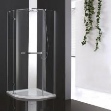Душевой уголок Cezares BERGAMO R 1 100 ARCO C Cr L прозрачное стекло, профиль хром IV