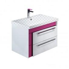 Тумба под раковину Iddis Color Plus 60 белая/розовая