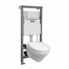 Комплект Iddis NE01PS0i73 унитаз подвесной, инсталляция, сиденье с функцией Soft Close
