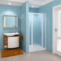 Душевая дверь Ravak SDOP 90 белая+Грапе (белый профиль, матовое стекло)