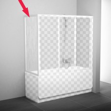 Шторка для ванны Ravak APSV 75 сатин + Тpанспаpент