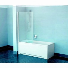 Шторка для ванны Ravak PVS1 80 белая + Транспарент