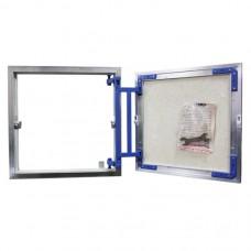 РАСПРОДАЖА: Люк под плитку Люкер AL-KR 80/40 алюминий, способ открывания нажатием, регулировки петли есть